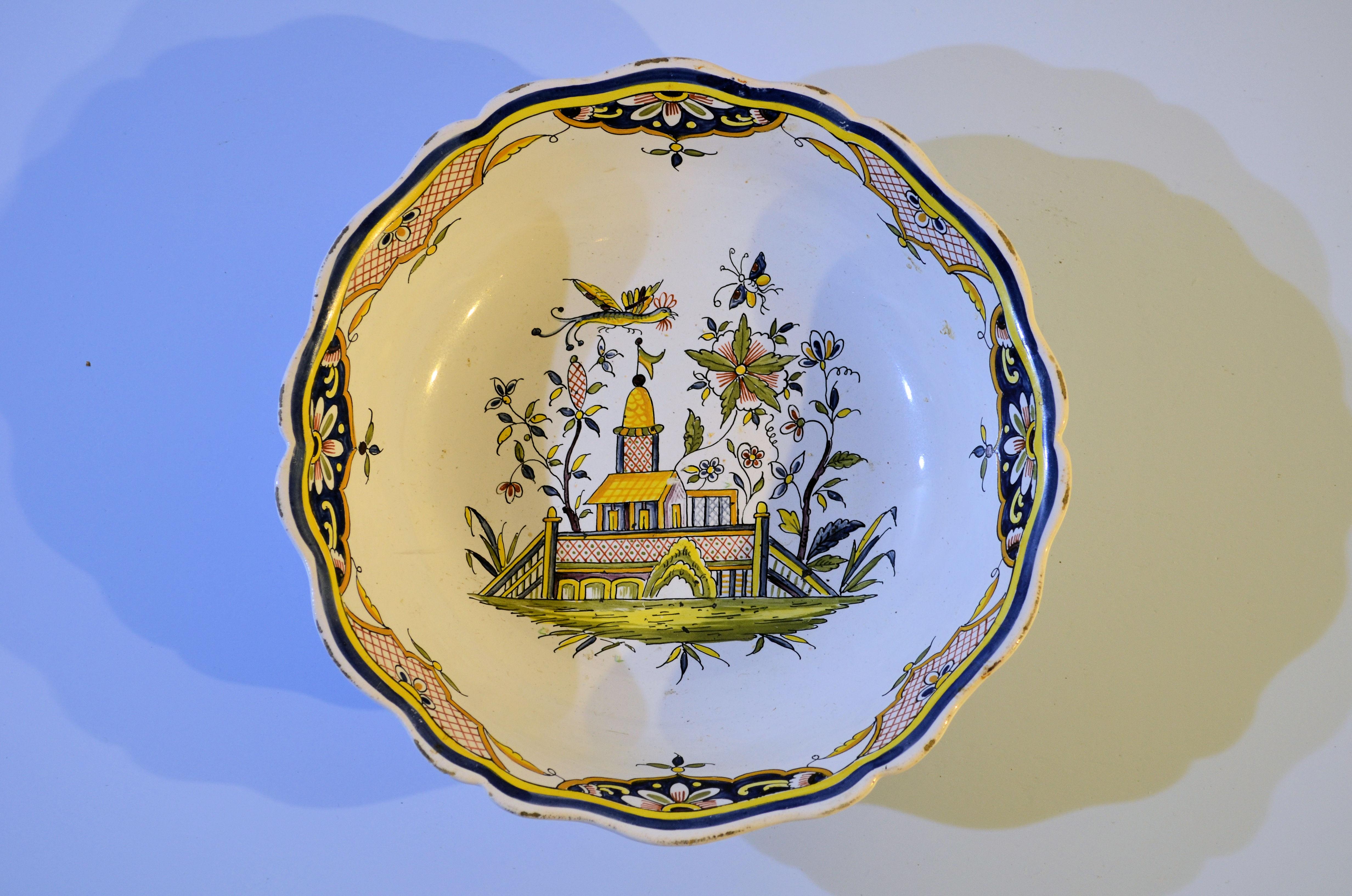 Franse aardewerk schaal [AA01] Image