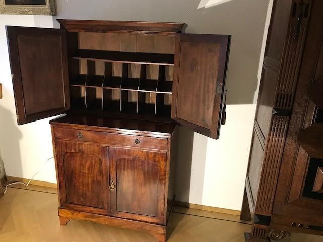 Antiek Engels combinatie bureau en boekenkast ca 1820 [BU81] Image